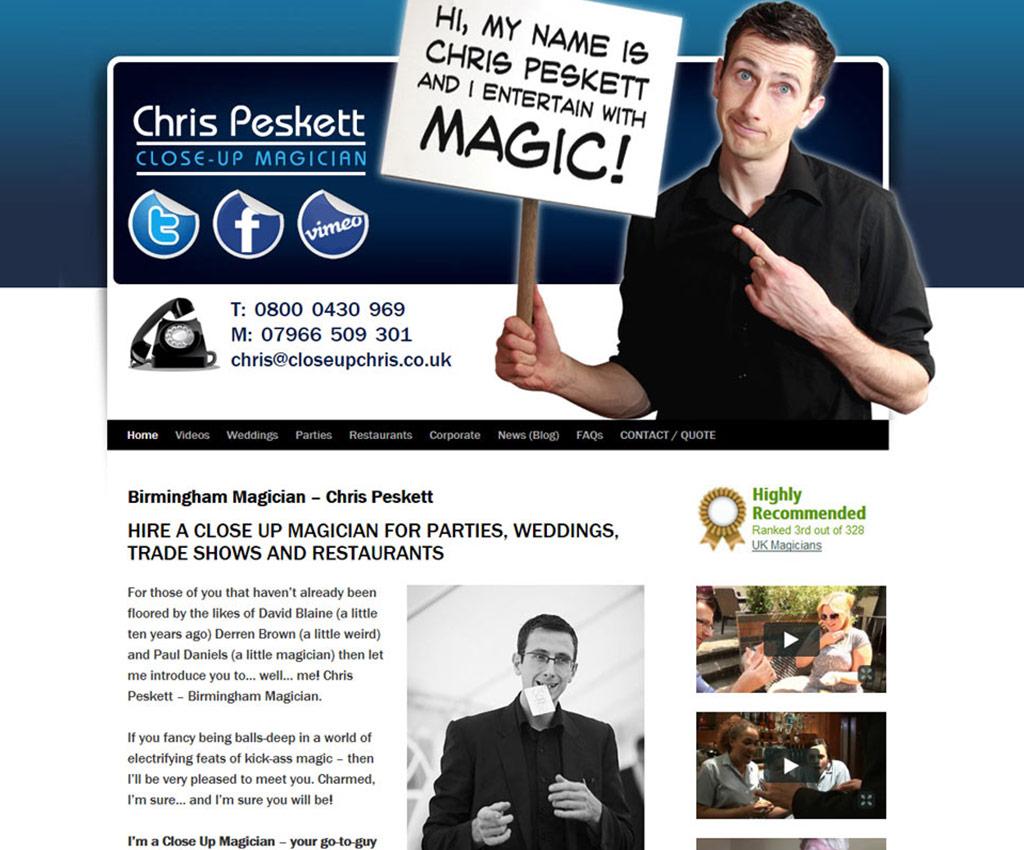 Testimonial - Chris Peskett Magician