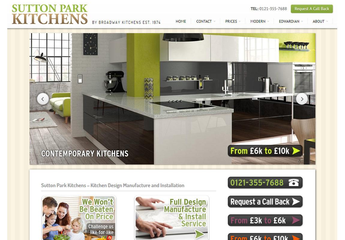 Brochure website - Sutton Park Kitchens